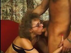 Mature in Stockings and Glasses Fucked