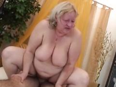 Big Granny Sucks and Fucks