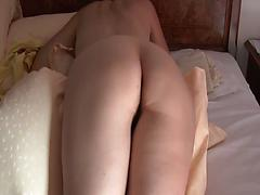 Hairy pussy of my wife in doggystyle