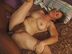 Hairy Mature woman gets mauled by BBC