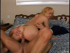 Sexy Blonde Swallows His Cock And Gets Fucked Hard