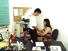 Busty Teen With Hairy Flower Having Sex In The Office
