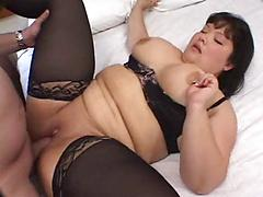 Fat Bbw Strips Then Sucks Dick While Getting Tits Played With