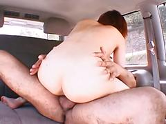 Car Fucking Asian Gets Her Hot Pussy Filled With Cock