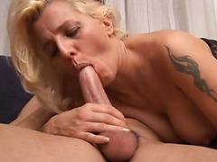 Blonde Cougar Takes It Balls Deep In The Ass