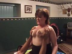 Fat Ass Granny Riding Stiff Pecker On Bed