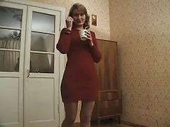 Pretty Blonde Russian Milf Gets Fingered And Toyed