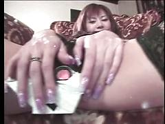 Vibrator Makes This Hairy Asian Pussy Cilmax