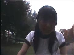 Sexy Japanese Girl Rides Sex Bike And Cums In Public