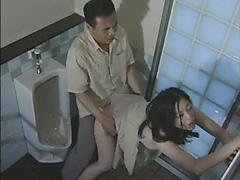 Asian Girl With Nice Body Gets Fucked In Public Bathroom