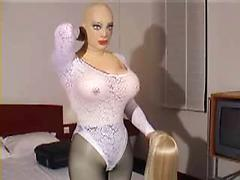 Secret Transvestite Pulls Out The Toys For Private Fun