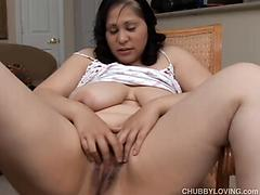 Chubby Slut Playing With Her Huge Tits And Pussy