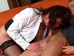 Full Figured Milf Sucks And Fucks Big Cock