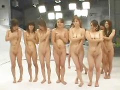 A Bunch Of Sexy Asian Teens Get Naked And Show Off