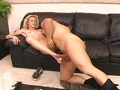 Blonde Girl Sucks, Fucked, And Facialized On First Date