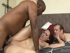 Bad Nicki! The super hot mummy gets herself a black spear to fuck!