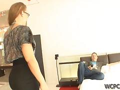 Siren with long hair and small tits gets BBC in ass