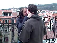 Reality video of an appetising teen getting licked and slammed