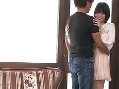 Short-haired Japanese beauty gets exciting sexual experience