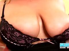 BBW slut with big fat tits gets pussy pounded gets tits creamed