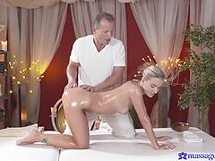 Massaging A Slender Angelic Babe From The Inside