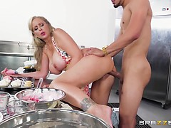 Hot Busty Julia Ann Is Cooking A Naughty Cock